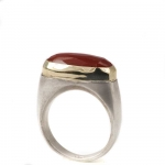 Bicolor Ring mit Karneol