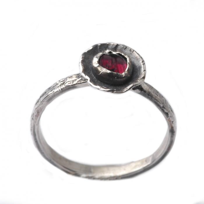 Granat Ring aus 925er Sterling Silber