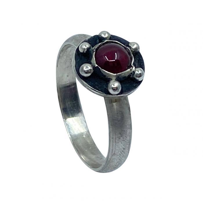 Granat Ring 925er Silber