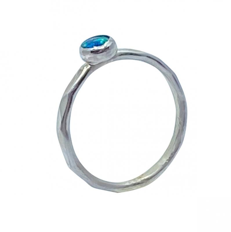 Opal Ring Silber