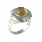 Handcrafted Citrin Sterling Silver Ring